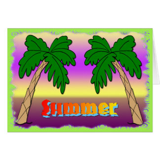 Summer Palm Trees Card