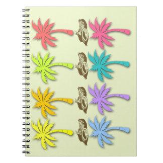 Summer Palm Trees Customizable Spiral Notebook