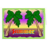 Summer Palm Trees Greeting Card