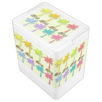 Summer Palm Trees Igloo Can Cooler