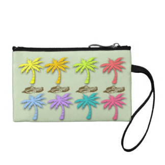 Summer Palm Trees Key Coin Clutch Change Purses