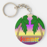 Summer Palm Trees Keychain