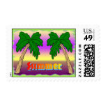 Summer Palm Trees Postage
