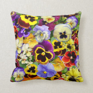 Summer Pansies ~ Pillow/Cushion Throw Pillow