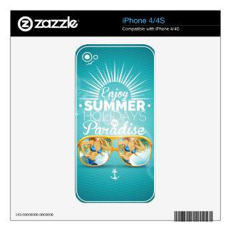 Summer Paradise Design iPhone 4S Skins