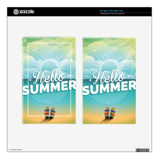 Summer Paradise Design with flip flops Kindle Fire Decal