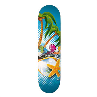 Summer Paradise Design with sunglasses Skateboard Deck