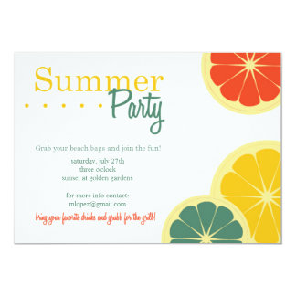 Summer Party Card