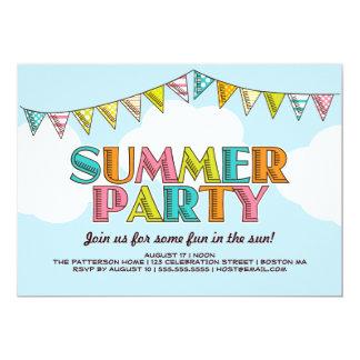 Summer Party Colorful Fun in the Sun Invitation