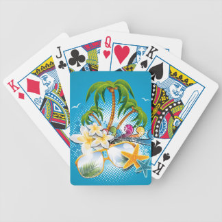 Summer Party design with speaker and sunglasses Bicycle Playing Cards