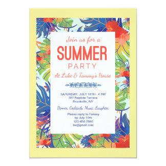 Summer Party Foliage Invitation