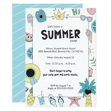 Beach Themed Summer Party! Fun Beach theme Card