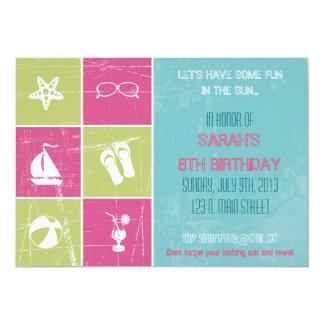 "Summer Party Invitation 5"" X 7"" Invitation Card"