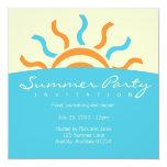 """Summer Party Invitation 5.25"""" Square Invitation Card"""