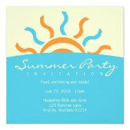 Summer Party Invitation at Zazzle