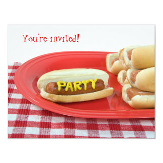 Summer Party 4.25x5.5 Paper Invitation Card