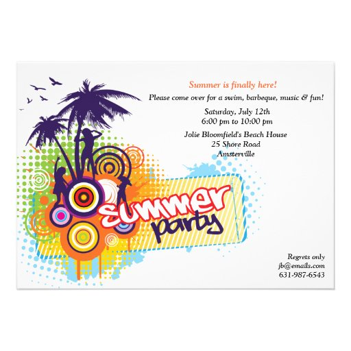 Personalized Luau Invitations with awesome invitation layout