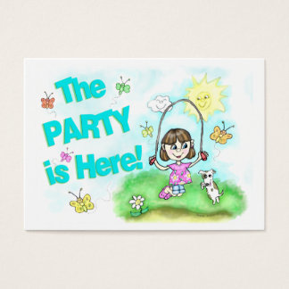 Summer Party Invitations on Business Cards