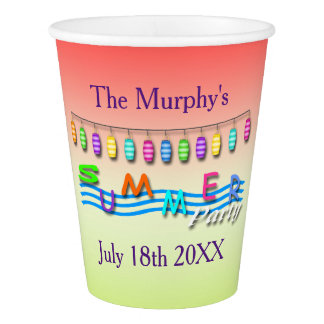Summer Party Paper Cups