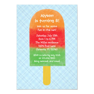 Summer Party Popsicle Birthday Invitation