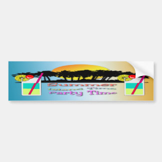 Summer - Party Time Bumper Sticker