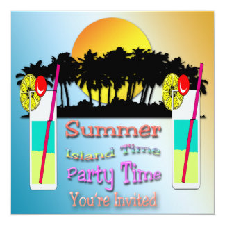 Summer - Party Time Invitation