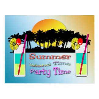 Summer - Party Time Postcard