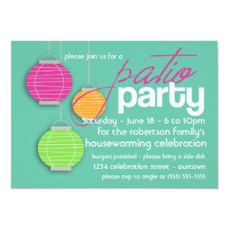 Summer Patio Party Housewarming Invitations