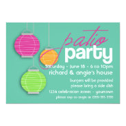 Summer Patio Party Invitations at Zazzle