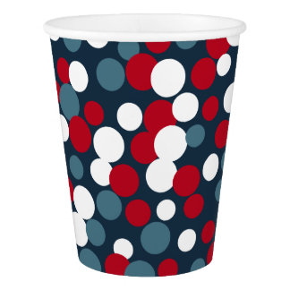 Summer Patriotic 4th of July Party Dots Cups