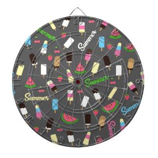 Summer pattern dart board