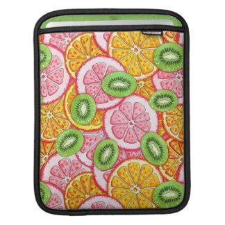 Summer pattern Orange grapefruit and kiwi fruit Sleeve For iPads