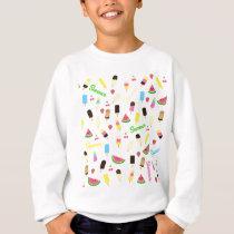 Summer pattern sweatshirt