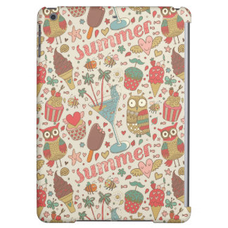 Summer Pattern With Ice Cream Case For iPad Air