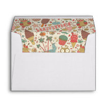 Summer Pattern With Ice Cream Envelope