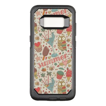 Beach Themed Summer Pattern With Ice Cream OtterBox Commuter Samsung Galaxy S8 Case