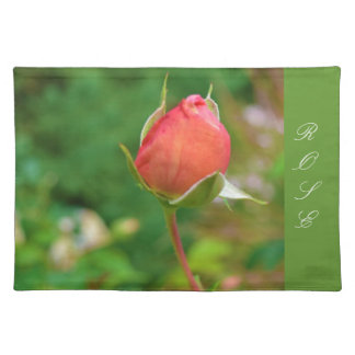 Summer Peach Rose Bud Placemat