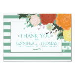 Summer Peonies Floral Wedding Thank You Card. Card
