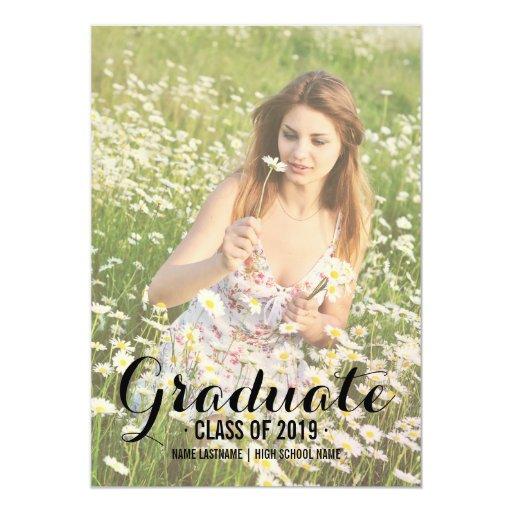 Summer Photo Filter Photo Graduate Party Invite Custom Invitations