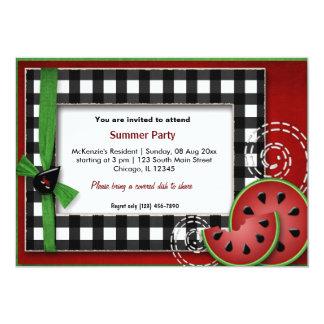 "Summer Picnic 5"" X 7"" Invitation Card"