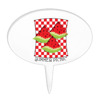 Summer Picnic Cake Toppers