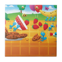 Summer Picnic Ceramic Tile