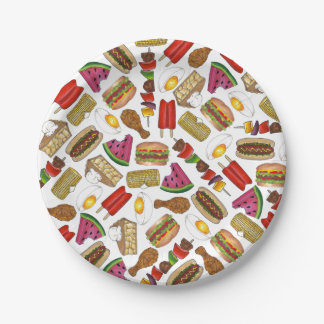 Summer Picnic Foods Plates 7 Inch Paper Plate