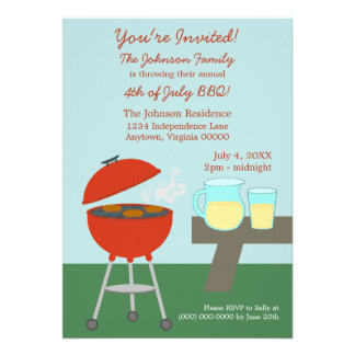 Summer Picnic Fourth of July Invite