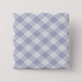 Summer Picnic Gingham Checkered Tablecloth: Blue Pinback Button