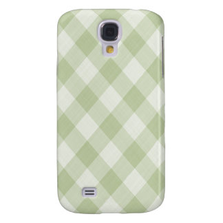 Summer Picnic Gingham Checkered Tablecloth: Green Galaxy S4 Case