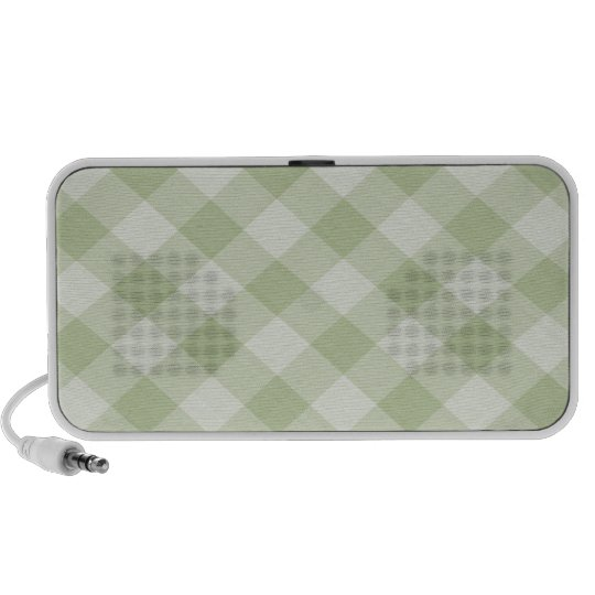 Summer Picnic Gingham Checkered Tablecloth: Green Speaker