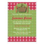 Summer Picnic Gingham Invitations