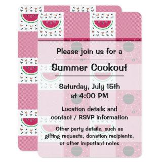 Summer Picnic Party Invitation