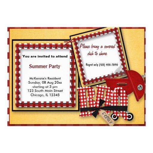 Summer Picnic Personalized Invitations